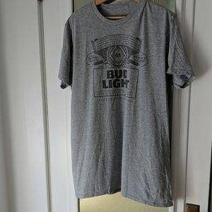 Hanes Bud Light Unisex Gray Graphic Tee